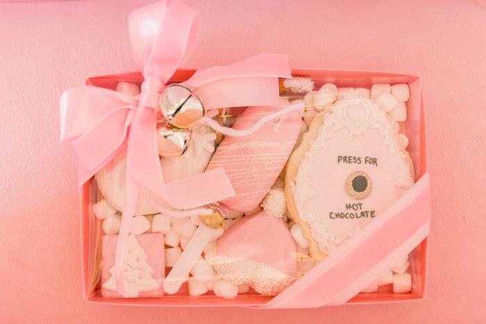 Polar Express-inspired Sweet Favor Box from a Pink Polar Express Party on Kara's Party Ideas | KarasPartyIdeas.com (52)
