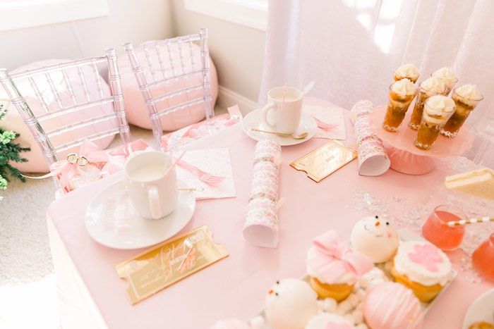 Pink Polar Express Party on Kara's Party Ideas | KarasPartyIdeas.com (23)
