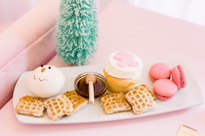 Mini Waffles & Sweets from a Pink Polar Express Party on Kara's Party Ideas | KarasPartyIdeas.com (19)