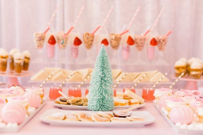 Breakfast Bar + Sweet Table from a Pink Polar Express Party on Kara's Party Ideas | KarasPartyIdeas.com (51)
