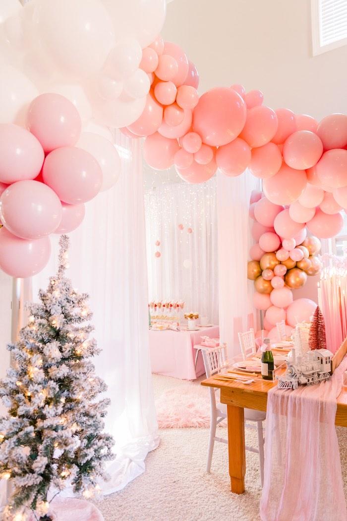Pink Polar Express Party on Kara's Party Ideas | KarasPartyIdeas.com (13)