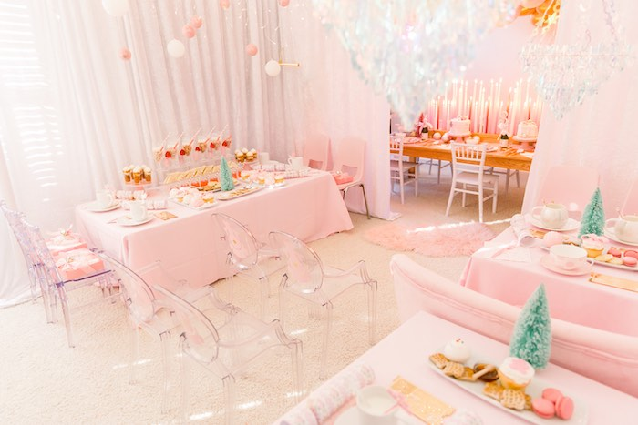 Pink Polar Express Party on Kara's Party Ideas | KarasPartyIdeas.com (12)