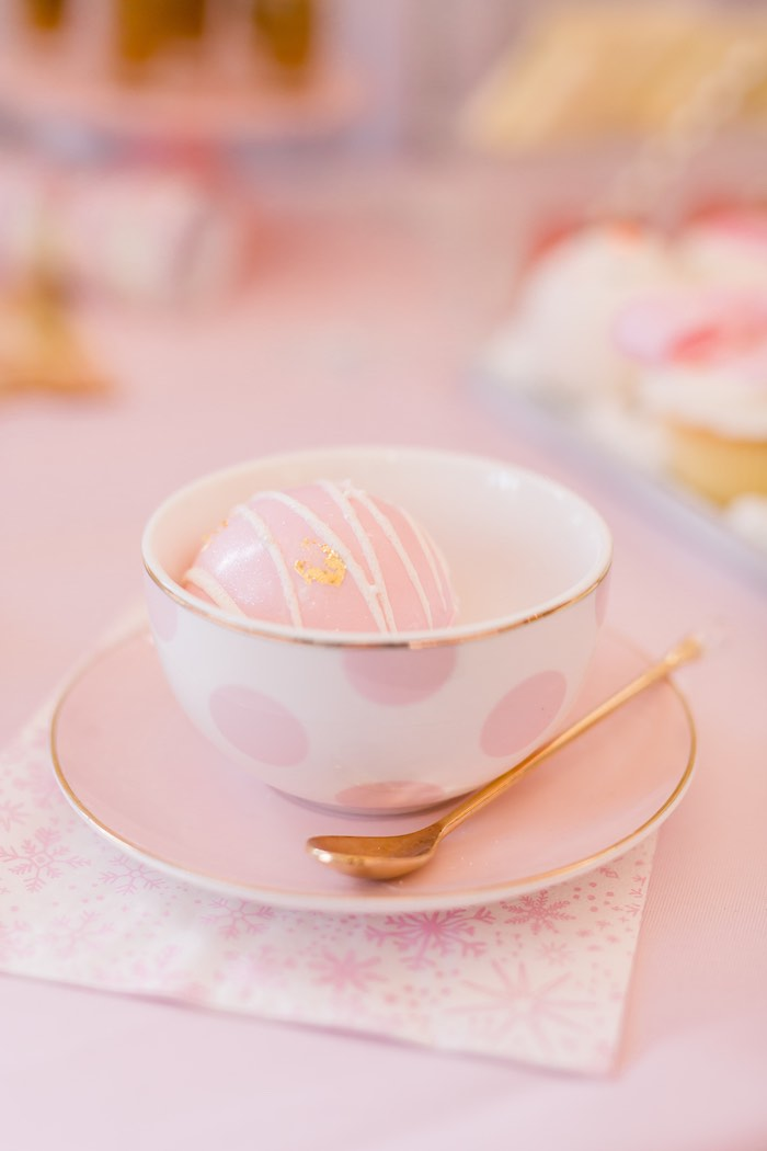 Hot Cocoa Bomb from a Pink Polar Express Party on Kara's Party Ideas | KarasPartyIdeas.com (7)