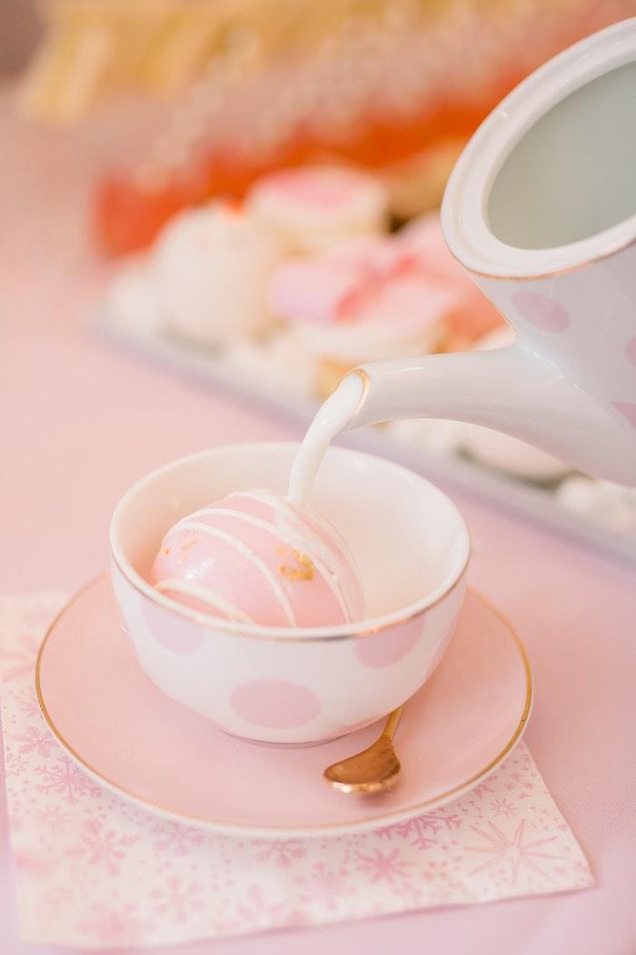 Hot Cocoa Bomb from a Pink Polar Express Party on Kara's Party Ideas | KarasPartyIdeas.com (6)