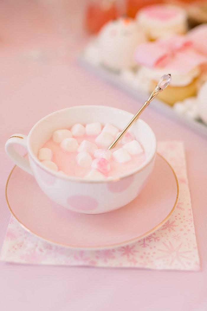 Pink Hot Cocoa from a Pink Polar Express Party on Kara's Party Ideas | KarasPartyIdeas.com (5)