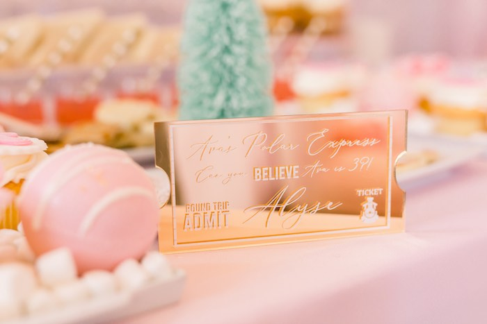 Polar Express Train Ticket Party Invite from a Pink Polar Express Party on Kara's Party Ideas | KarasPartyIdeas.com (46)
