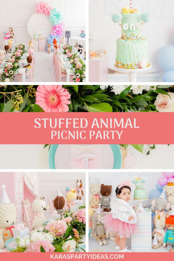 Stuffed Animal Picnic Party via Kara's Party Ideas - KarasPartyIdeas.com