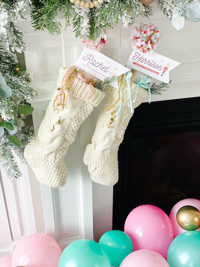 Christmas Stocking Favors from a Sugar Plum Fairy Birthday Party on Kara's Party Ideas | KarasPartyIdeas.com (20)