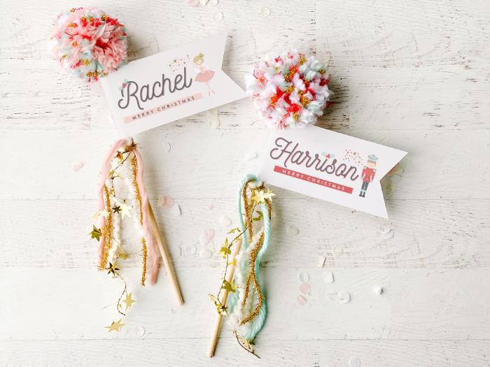Pom Name Tags + Place Cards from a Sugar Plum Fairy Birthday Party on Kara's Party Ideas | KarasPartyIdeas.com (19)