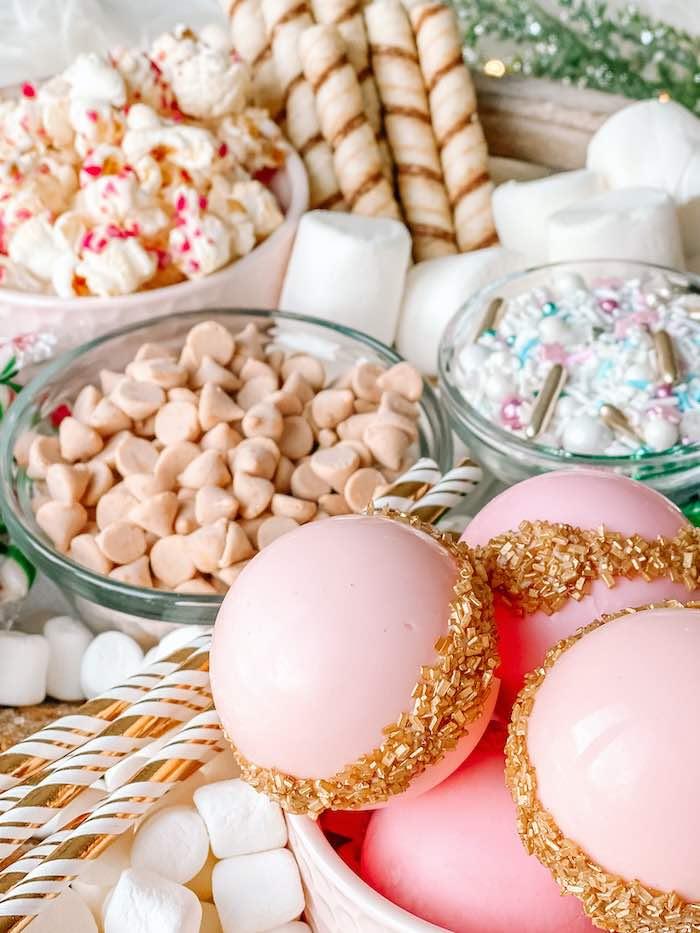 Holiday Candy Spread from a Sugar Plum Fairy Birthday Party on Kara's Party Ideas | KarasPartyIdeas.com (12)