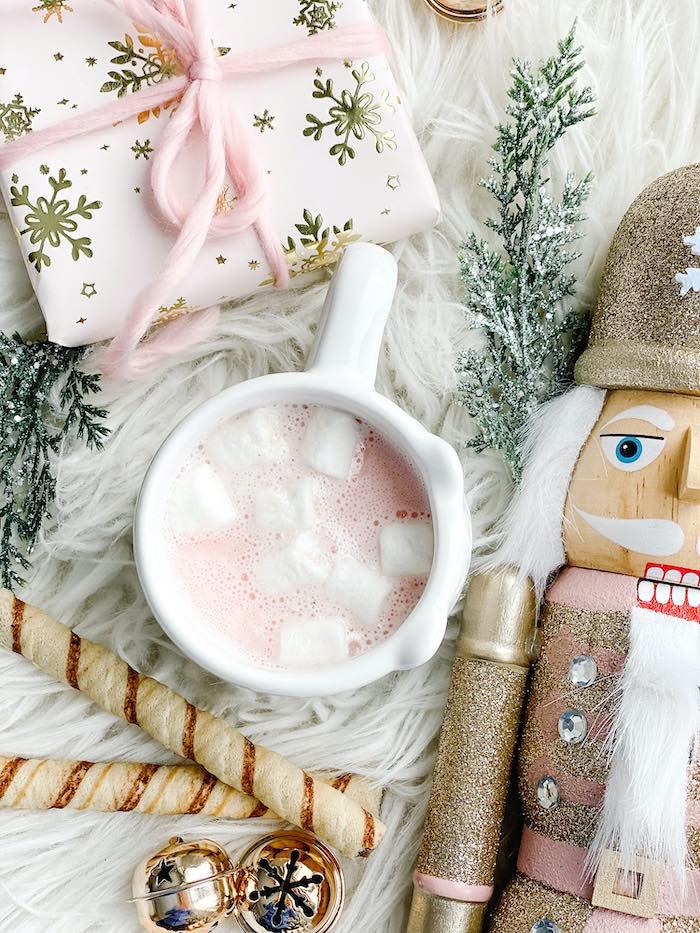 Nutcracker Ballet Hot Cocoa Bar from a Sugar Plum Fairy Birthday Party on Kara's Party Ideas | KarasPartyIdeas.com (11)