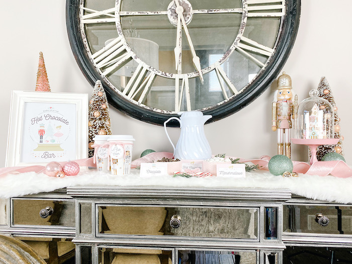 Nutcracker Ballet Hot Cocoa Bar from a Sugar Plum Fairy Birthday Party on Kara's Party Ideas | KarasPartyIdeas.com (9)