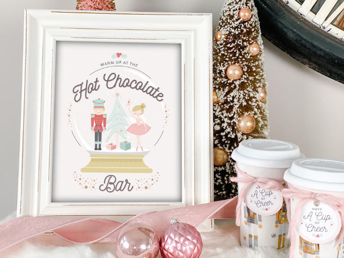 Nutcracker-inspired Hot Cocoa Bar Sign from a Sugar Plum Fairy Birthday Party on Kara's Party Ideas | KarasPartyIdeas.com (8)