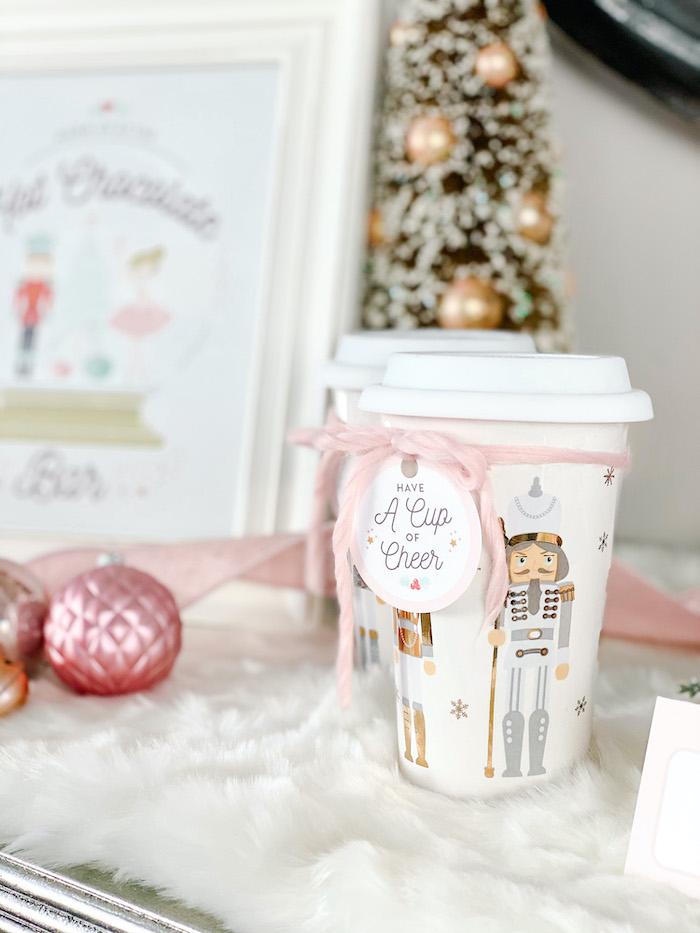 Nutcracker Hot Cocoa Cup from a Sugar Plum Fairy Birthday Party on Kara's Party Ideas | KarasPartyIdeas.com (7)