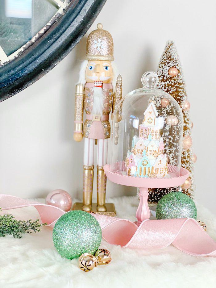Snow Globe + Nutcracker Centerpiece from a Sugar Plum Fairy Birthday Party on Kara's Party Ideas | KarasPartyIdeas.com (5)