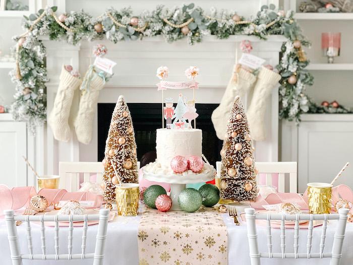 Sugar Plum Fairy Guest Table from a Sugar Plum Fairy Birthday Party on Kara's Party Ideas | KarasPartyIdeas.com (29)