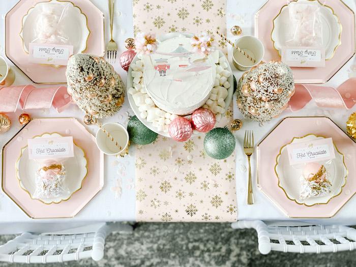 Sugar Plum Fairy Guest Table from a Sugar Plum Fairy Birthday Party on Kara's Party Ideas | KarasPartyIdeas.com (28)