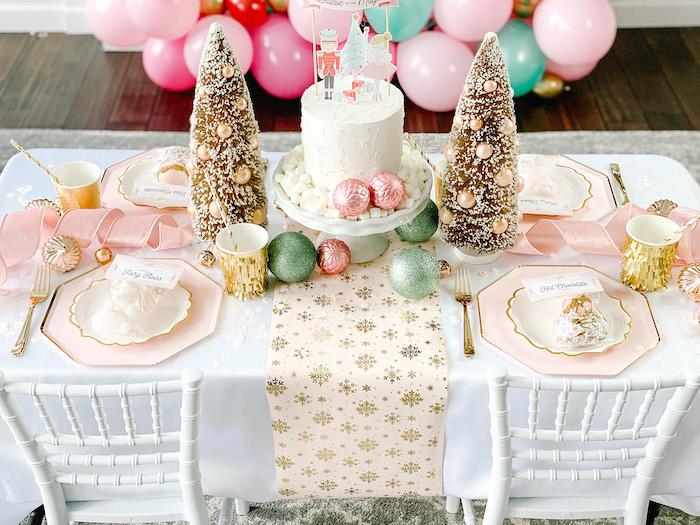 Sugar Plum Fairy Guest Table from a Sugar Plum Fairy Birthday Party on Kara's Party Ideas | KarasPartyIdeas.com (27)