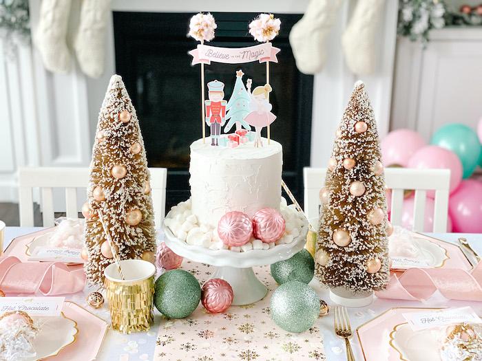 Sugar Plum Fairy Party Table from a Sugar Plum Fairy Birthday Party on Kara's Party Ideas | KarasPartyIdeas.com (26)