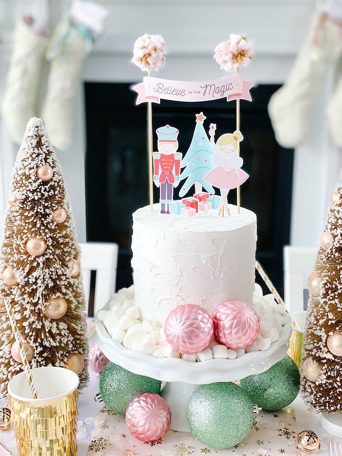 Nutcracker Ballet-inspired Cake from a Sugar Plum Fairy Birthday Party on Kara's Party Ideas | KarasPartyIdeas.com (24)