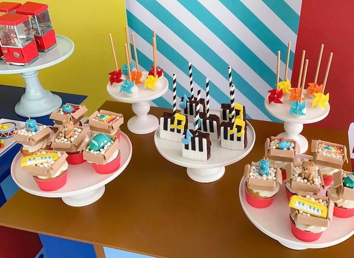 Toy Themed Dessert Table from a Toy Shop Birthday Party on Kara's Party Ideas   KarasPartyIdeas.com (9)