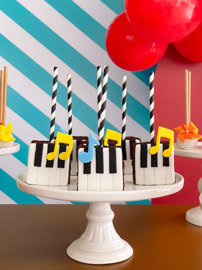 Piano Brownie Pops from a Toy Shop Birthday Party on Kara's Party Ideas   KarasPartyIdeas.com (5)