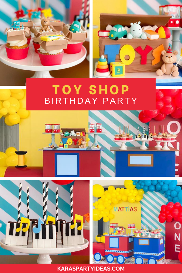 Toy Shop Birthday Party via Kara's Party Ideas - KarasPartyIdeas.com