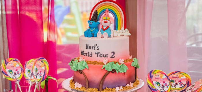 Trolls World Tour Tropical Birthday Party on Kara's Party Ideas | KarasPartyIdeas.com (1)