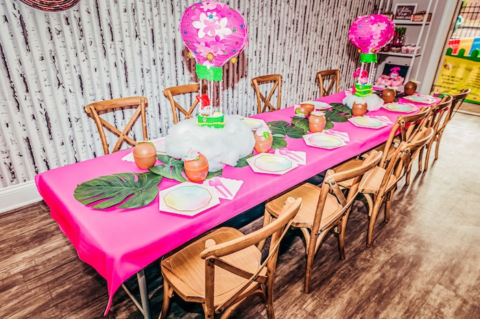 Tropical Guest Table from a Trolls World Tour Tropical Birthday Party on Kara's Party Ideas | KarasPartyIdeas.com (13)