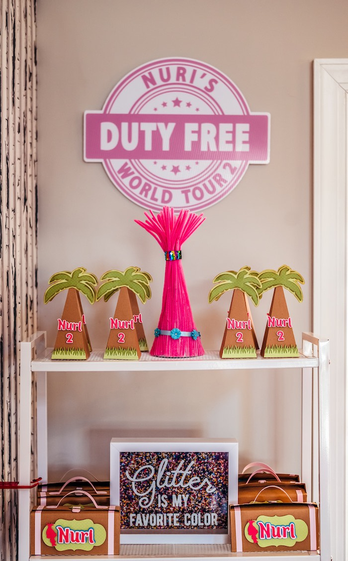 Tropical Trolls-inspired Party Favors from a Trolls World Tour Tropical Birthday Party on Kara's Party Ideas | KarasPartyIdeas.com (10)