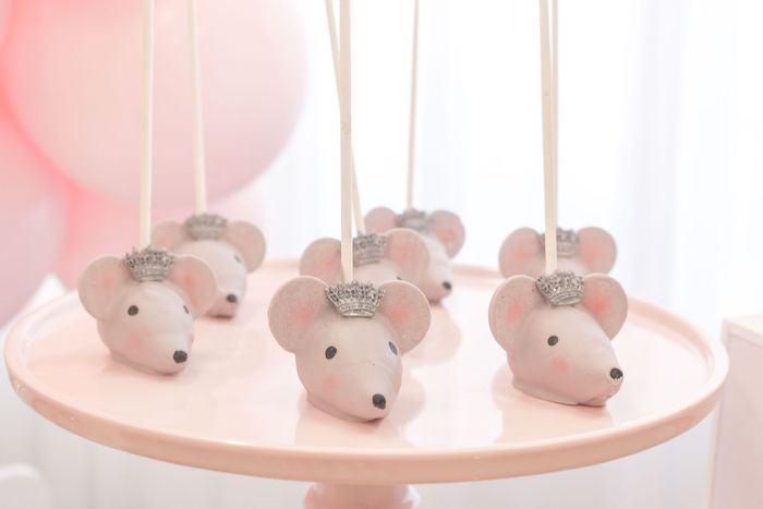 Mouse King Cake Pops from a Whimsical Pastel Nutcracker Party on Kara's Party Ideas   KarasPartyIdeas.com (16)