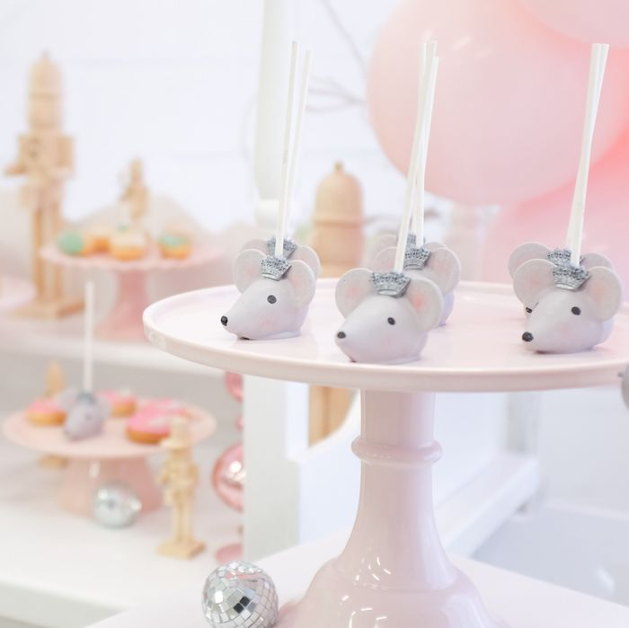 Mouse King Cake Pops from a Whimsical Pastel Nutcracker Party on Kara's Party Ideas   KarasPartyIdeas.com (11)