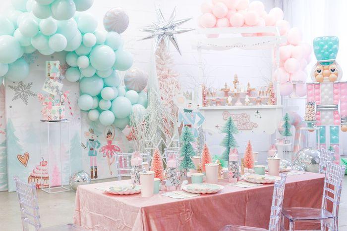 Nutcracker Themed Guest Table from a Whimsical Pastel Nutcracker Party on Kara's Party Ideas   KarasPartyIdeas.com (32)