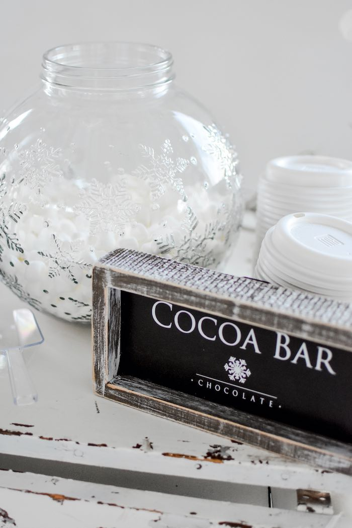 Chalkboard Coca Bar Sign from a Winter ONEderland 1st Birthday Party on Kara's Party Ideas | KarasPartyIdeas.com (72)