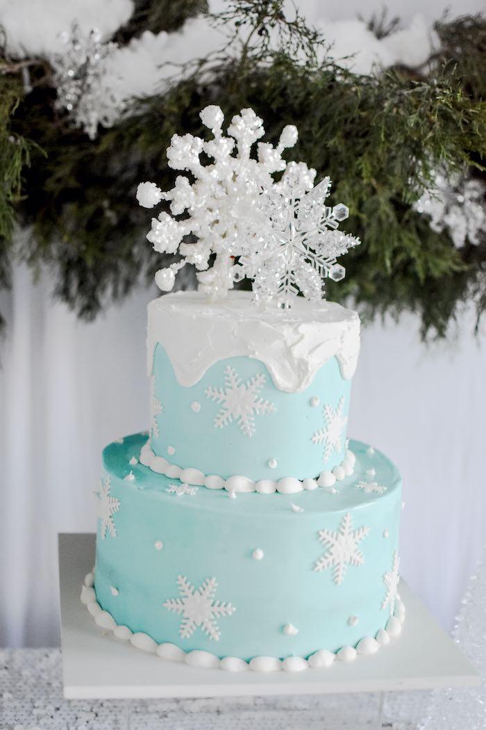 Winter ONEderland Birthday Cake from a Winter ONEderland 1st Birthday Party on Kara's Party Ideas | KarasPartyIdeas.com (71)