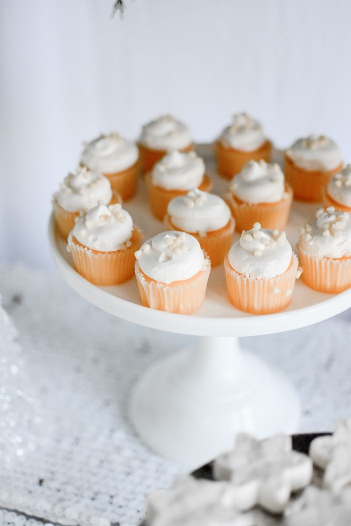 Mini White-iced Cupcakes from a Winter ONEderland 1st Birthday Party on Kara's Party Ideas | KarasPartyIdeas.com (67)