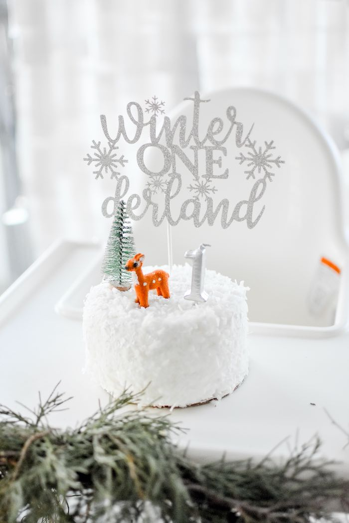 Winter ONEderland Smash Cake from a Winter ONEderland 1st Birthday Party on Kara's Party Ideas | KarasPartyIdeas.com (56)