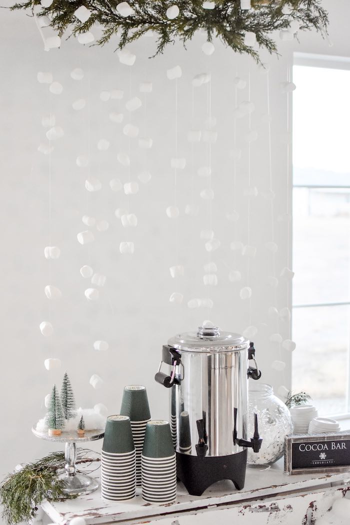 Winter Wonderland Hot Cocoa Bar from a Winter ONEderland 1st Birthday Party on Kara's Party Ideas | KarasPartyIdeas.com (53)