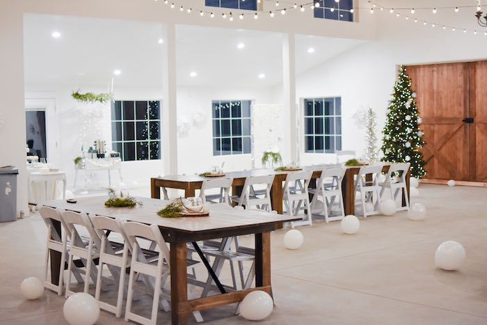 Winter Wonderland Guest Tables from a Winter ONEderland 1st Birthday Party on Kara's Party Ideas | KarasPartyIdeas.com (43)