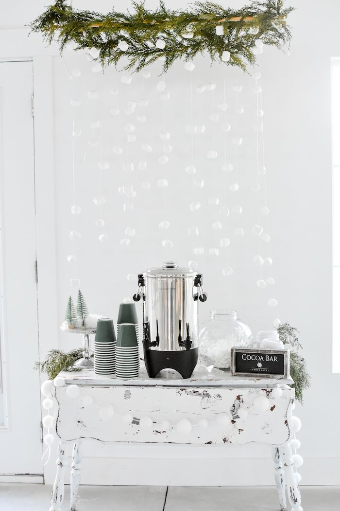 Winter Wonderland Hot Cocoa Bar from a Winter ONEderland 1st Birthday Party on Kara's Party Ideas | KarasPartyIdeas.com (79)