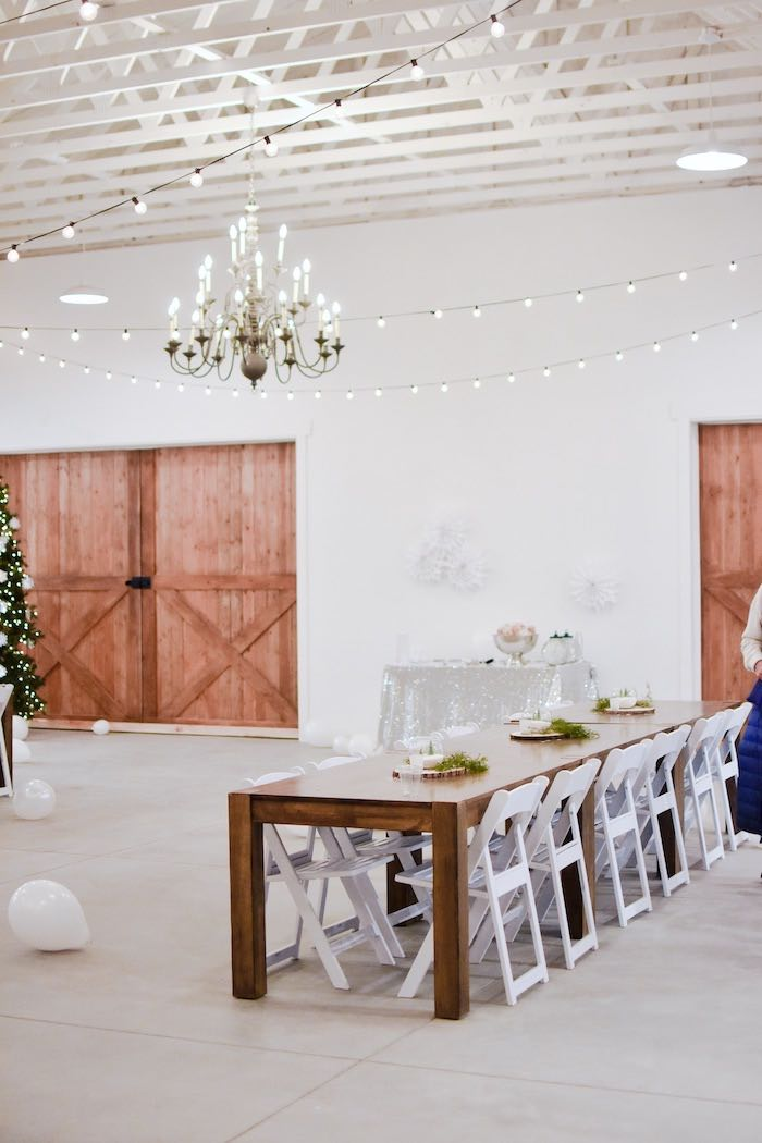 Winter Wonderland Guest Tables from a Winter ONEderland 1st Birthday Party on Kara's Party Ideas | KarasPartyIdeas.com (41)