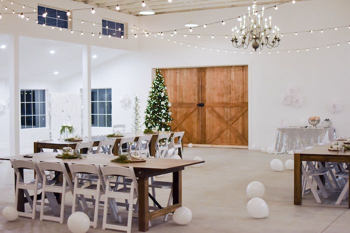 Winter Wonderland Guest Tables from a Winter ONEderland 1st Birthday Party on Kara's Party Ideas | KarasPartyIdeas.com (39)