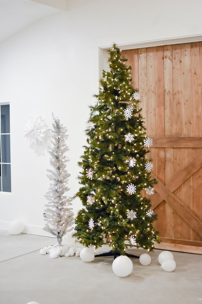 Christmas Trees from a Winter ONEderland 1st Birthday Party on Kara's Party Ideas | KarasPartyIdeas.com (37)