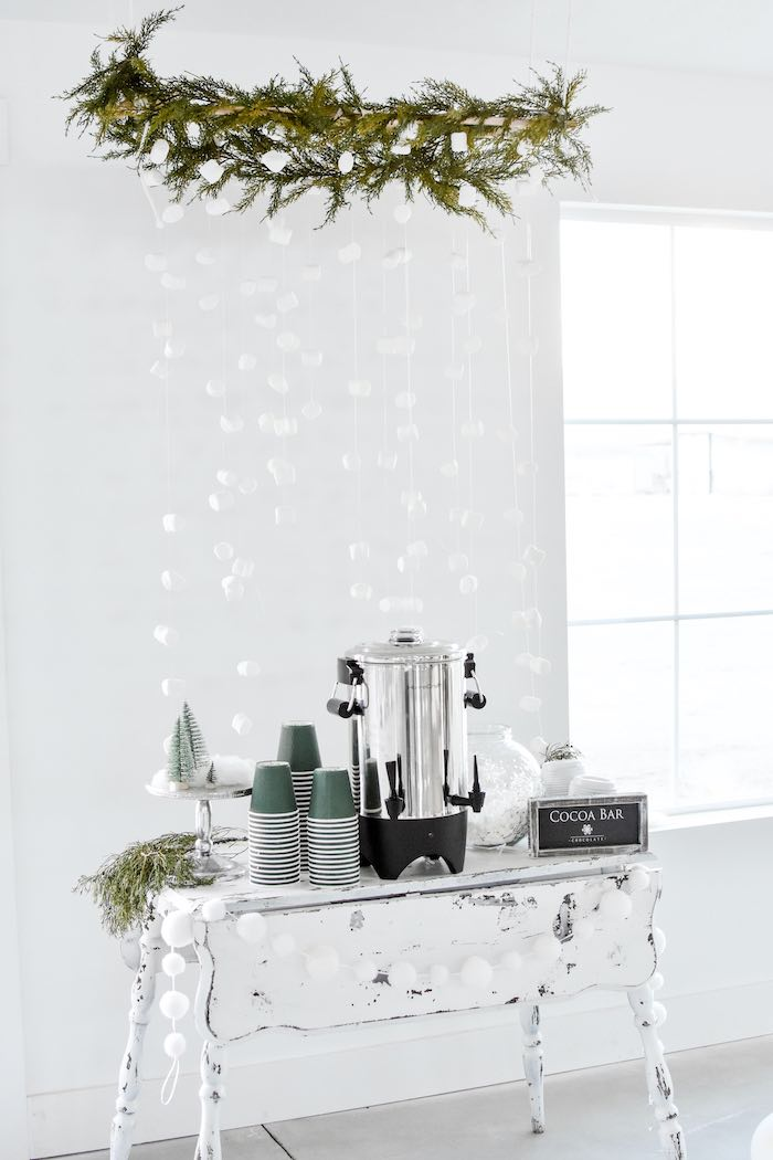 Winter Wonderland Hot Cocoa Bar from a Winter ONEderland 1st Birthday Party on Kara's Party Ideas | KarasPartyIdeas.com (78)