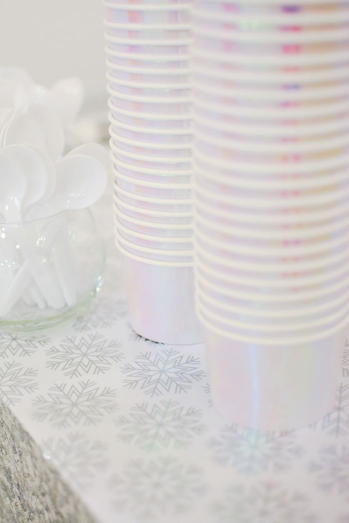 Iridescent Soup Cups from a Winter ONEderland 1st Birthday Party on Kara's Party Ideas | KarasPartyIdeas.com (32)