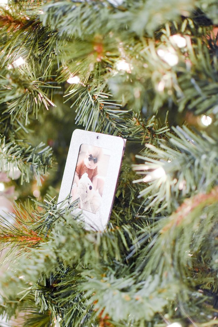 First Year Photo Ornaments from a Winter ONEderland 1st Birthday Party on Kara's Party Ideas | KarasPartyIdeas.com (28)