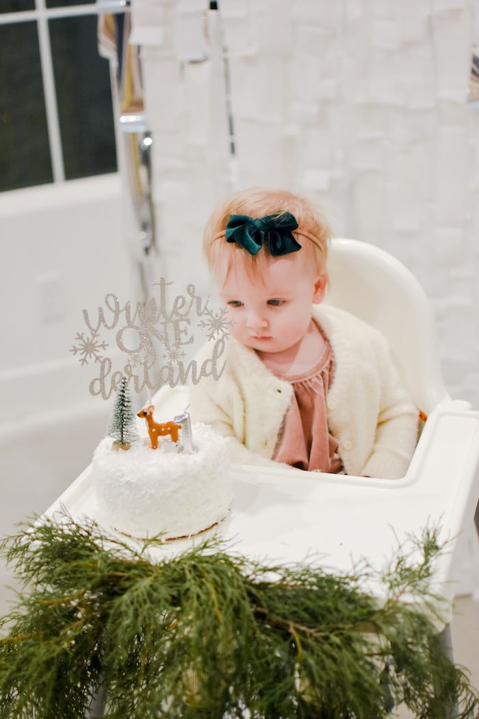 Winter ONEderland Smash Cake from a Winter ONEderland 1st Birthday Party on Kara's Party Ideas | KarasPartyIdeas.com (17)