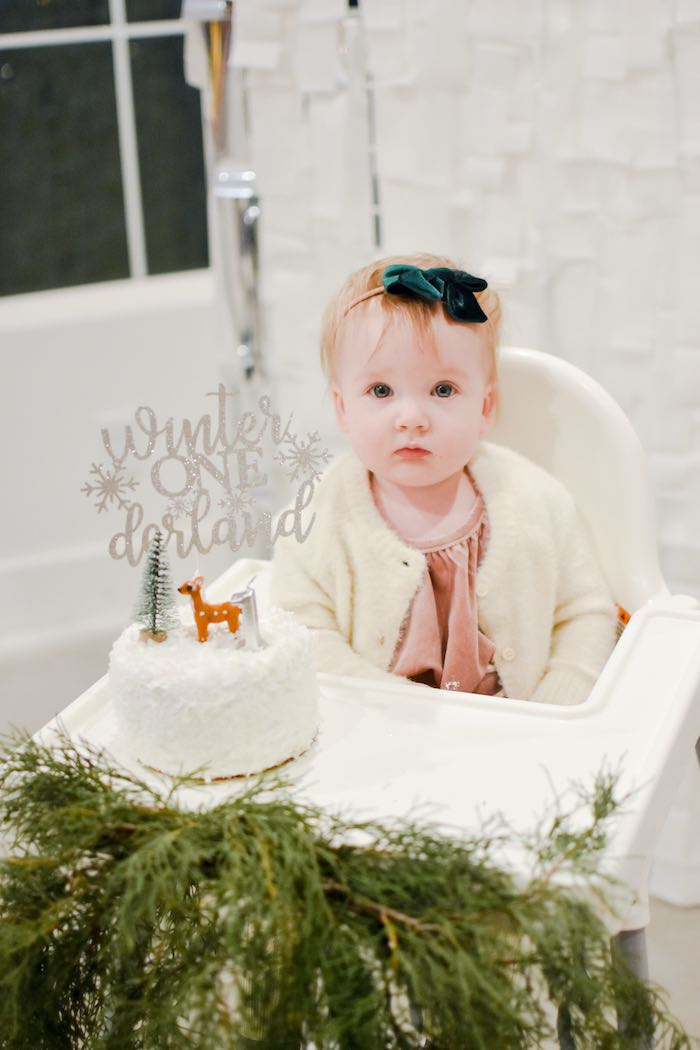 Winter ONEderland Smash Cake from a Winter ONEderland 1st Birthday Party on Kara's Party Ideas | KarasPartyIdeas.com (16)