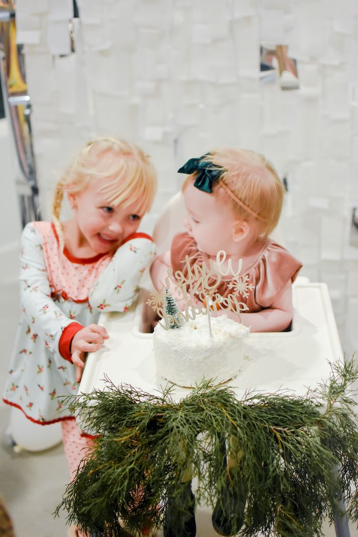 Winter Cake Smash from a Winter ONEderland 1st Birthday Party on Kara's Party Ideas | KarasPartyIdeas.com (14)