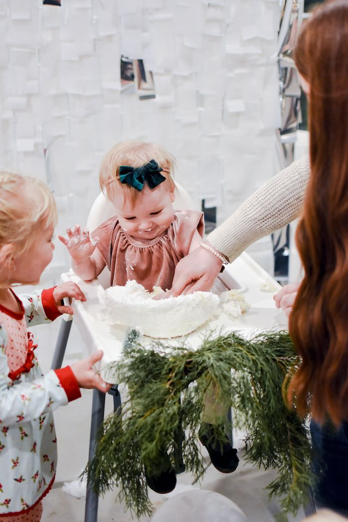 Winter Cake Smash from a Winter ONEderland 1st Birthday Party on Kara's Party Ideas | KarasPartyIdeas.com (12)